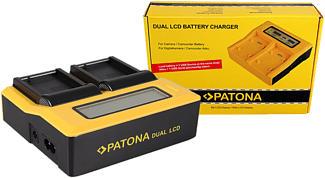 PATONA 7625 Dual - Chargeur (Noir/Jaune)