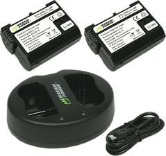 WASABI POWER KIT‐BB‐ENEL15‐01 - Batteria ricaricabile (Nero)