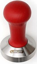 LELIT PLA481W TAMPER 58MM WOOD - Tamper (Rosso, Argento)