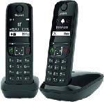 MediaMarkt GIGASET AS690 Duo - Telefono cordless (Nero)