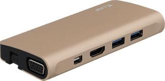 LMP 19009 - Adaptateurs de voyage Multiport USB-C (Noir/Or)