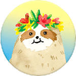 MediaMarkt POPSOCKETS 801009 Aloha Sloth Gardient - Maniglia e supporto del telefono (Colorato)