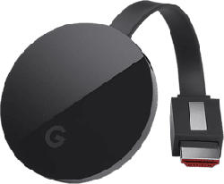 GOOGLE Chromecast Ultra EU Version - Dispositivo per lo streaming (Nero)