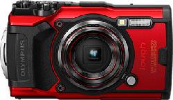 OLYMPUS Tough TG-6 - Fotocamera compatta (Risoluzione efficace della foto: 12 MP) Rosso