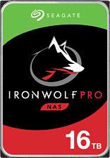 SEAGATE IronWolf Pro NAS - Disco rigido (HDD, 16 TB, Argento/Nero)