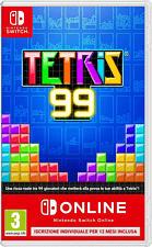 Switch - Tetris 99 + 1 anno iscrizione individuale di Nintendo Switch Online /I