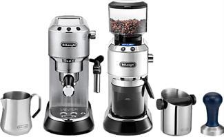 DE-LONGHI Dedica Style Barista Bundle - Espressomaschine (Edelstahl/Schwarz)