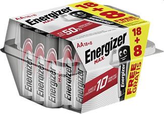 ENERGIZER AA MAX 26PCS - Piles (Argent)