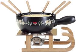 NOUVEL Prairie Sled fleur - Fromage à fondue (Noir)