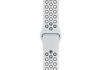 APPLE Bracelet Sport Nike 40 mm - S/M et M/L - Bracelet de remplacement (Platine pur/Noir)