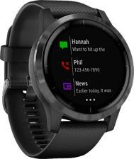 GARMIN vívoactive 4 - GPS-Smartwatch (Breite: 22 mm, Silikon, Schwarz/Schiefergrau)