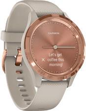 GARMIN vívomove 3S - Smartwatch (Larghezza: 18 mm, Silicone, Beige/Oro rosa)