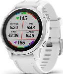 MediaMarkt GARMIN fēnix 6S - Smartwatch GPS multisport (Larghezza: 20 mm, Silicone, Bianco/Argento)