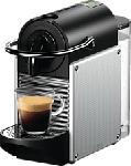MediaMarkt DE-LONGHI Pixie EN 124.S - Nespresso® Kaffeemaschine (Electric Aluminium)