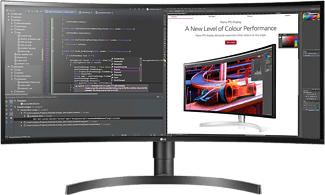 "LG 34WL85C-B - Monitor (34 "", UWQHD, 60 Hz, Schwarz)"