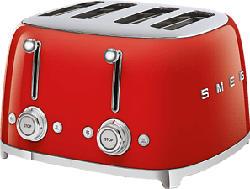 SMEG 50's Retro Style 4S  - Grille-pain (Rouge)