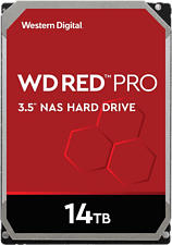 WESTERN DIGITAL WD Red Pro NAS Hard Drive - Disco rigido (HDD, 14 TB, Argento/Nero)