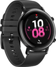 HUAWEI Watch GT 2 (42 mm) - Smartwatch (Breite: 20 mm, Fluorelastomer, Schwarz)