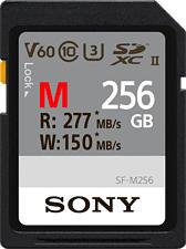 SONY SFG2M - SDXC-Cartes mémoire  (256 GB, 277 MB/s, Noir)