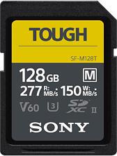 SONY SFM128T Tough UHS-II - SDXC-Speicherkarte  (128 GB, 277 MB/s, Schwarz)