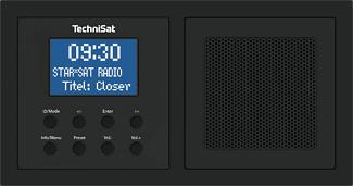 TECHNISAT DIGITRADIO UP1 - Radio numérique (DAB, DAB+, FM, Noir)