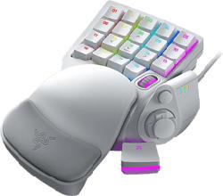 RAZER Tartarus Pro Mercury - Keypad (Weiss)