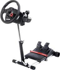 WHEEL STAND PRO Deluxe V2 - Supporto per volante da gioco (Nero/Argento)