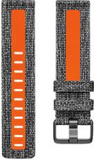 FITBIT Versa (S) - Armband (Grau/Orange)
