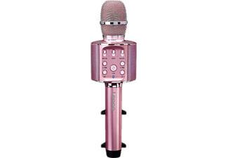LENCO BMC-090 - Microfono Karaoke Bluetooth (Oro rosa)