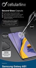 CELLULAR LINE Second Glass Capsule - Schutzglass (Passend für Modell: Samsung Galaxy A51)