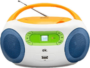OK ORC 512 - CD-Player/Radiorecorder (FM, Mehrfarbig)