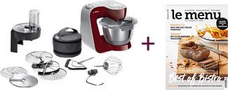 BOSCH MUM5LOVE - Robot de cuisine (Acier inoxydable/Rouge)