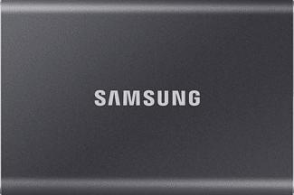 SAMSUNG Portable SSD T7 - Disque dur (SSD, 500 GB, Titan Gray)
