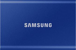 SAMSUNG Portable SSD T7 - Festplatte (SSD, 2 TB, Indigo Blue)