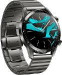 MediaMarkt HUAWEI Watch GT 2 Elite - Smartwatch (Breite: 22 mm, Metall (+1 Fluorelastomer-Armband als Zugabe), Grau)