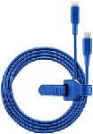 MediaMarkt CELLULAR LINE Cosmic - Cavo USB da tipo C a lampo (Blu)