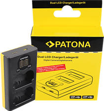 PATONA 1888 Dual LCD - Caricatore USB (Nero/Giallo)