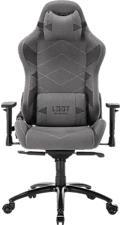 L33T Elite V4 Canvas - Gaming-Stuhl (Hellgrau)