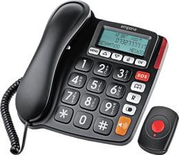 EMPORIA KFT19-SOS - Festnetztelefon (Schwarz)