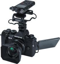 OLYMPUS OM-D E-M5 Mark III Body + M.Zuiko Digital ED 12mm F2 + Kit Vlogger - Fotocamera (Risoluzione efficace della foto: 20.4 MP) Nero