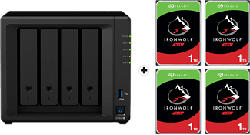 SYNOLOGY DiskStation DS920+ avec 4x 1TB Seagate IronWolf NAS (HDD) - Serveur NAS (HDD, SSD, 4 TB, Noir)