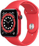 MediaMarkt APPLE Watch Series 6 (GPS + Cellular) 44 mm - Smartwatch (140 - 220 mm, Fluoroelastomero, Rosso/(PROJECT) Red)