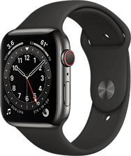 APPLE Watch Series 6 (GPS + Cellular) 44 mm - Smartwatch (140 - 220 mm, Fluorelastomer, Graphit/Schwarz)