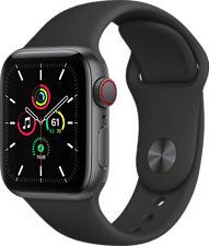 APPLE Watch SE (GPS + Cellular) 40 mm - Smartwatch (130 - 200 mm, Fluoroelastomero, Grigio siderale/Nero)
