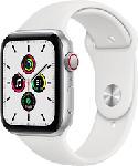 MediaMarkt APPLE Watch SE (GPS + Cellular) 44 mm - Smartwatch (140 - 220 mm, Fluoroelastomero, Argento/Bianco)