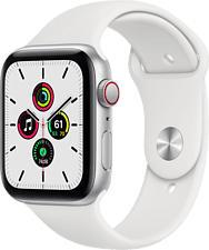 APPLE Watch SE (GPS + Cellular) 44 mm - Smartwatch (140 - 220 mm, Fluorelastomer, Silber/Weiss)
