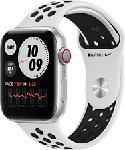 MediaMarkt APPLE Watch Nike Series 6 (GPS + Cellular) 44 mm - Smartwatch (140 mm  - 220 mm, Fluorelastomer, Silber/Pure Platinum/Schwarz)