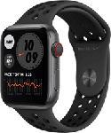 MediaMarkt APPLE Watch Nike Series 6 (GPS + Cellular) 44 mm - Smartwatch (140 mm  - 220 mm, Fluorelastomer, Space Grau/Anthrazit/Schwarz)