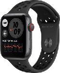 MediaMarkt APPLE Watch Nike SE (GPS + Cellular) 44 mm - Smartwatch (140 - 220 mm, Fluoroelastomero, Grigio siderale/Antracite/Nero)