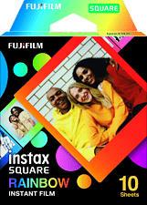FUJIFILM Instax Square 10Bl Rainbow - Sofortbild-Farbfilm (Mehrfarbig)
